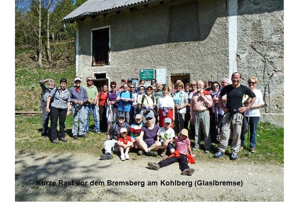 Kurze Rast vor dem Bremsberg am Kohlberg (Glaslbremse)