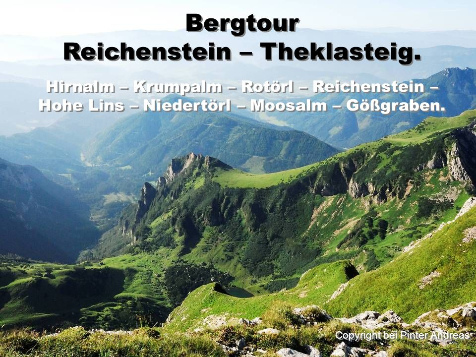 Reichenstein – Theklasteig.