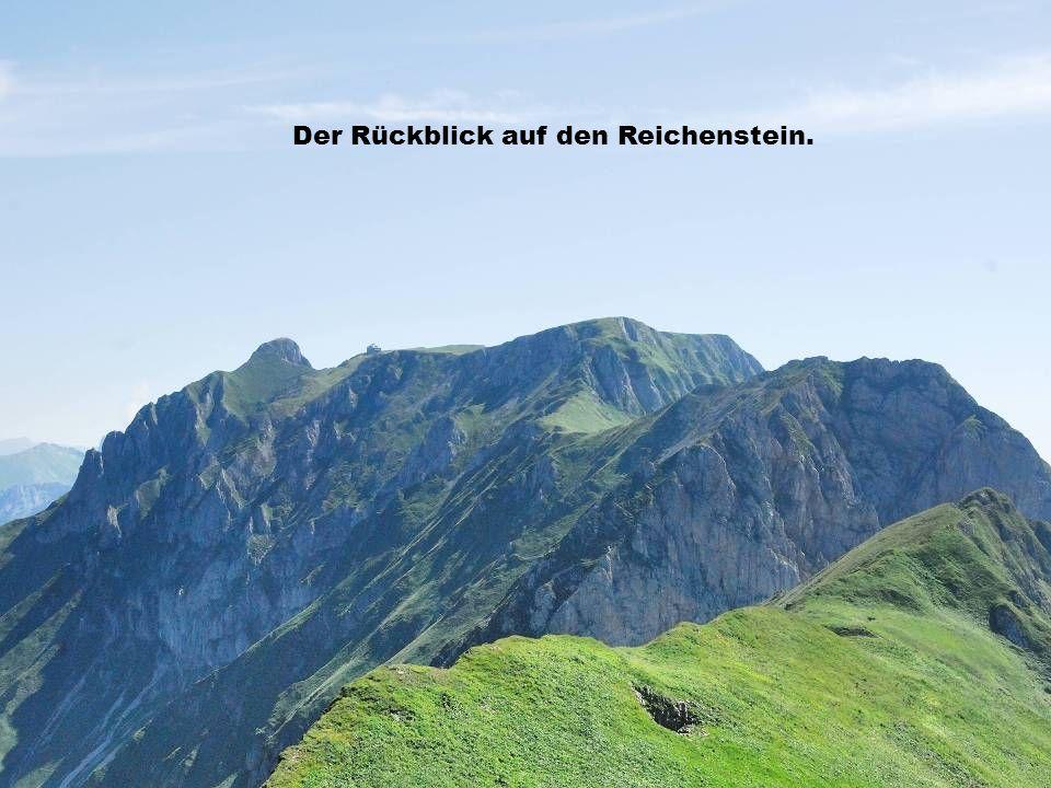 Der Rückblick auf den Reichenstein.