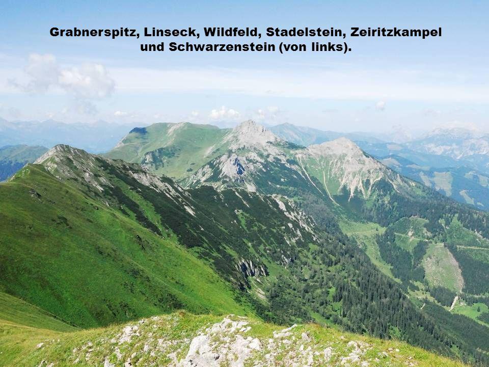 Grabnerspitz, Linseck, Wildfeld, Stadelstein, Zeiritzkampel und Schwarzenstein (von links).