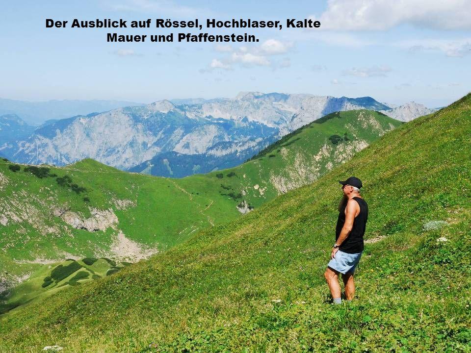 Der Ausblick auf Rössel, Hochblaser, Kalte Mauer und Pfaffenstein.