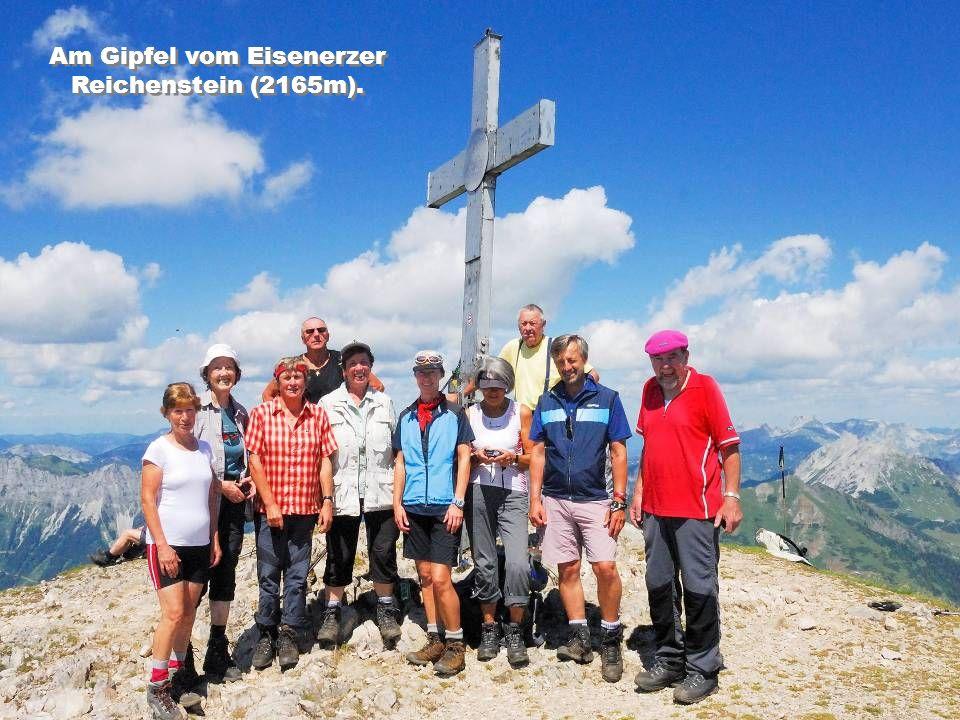 Am Gipfel vom Eisenerzer Reichenstein (2165m).