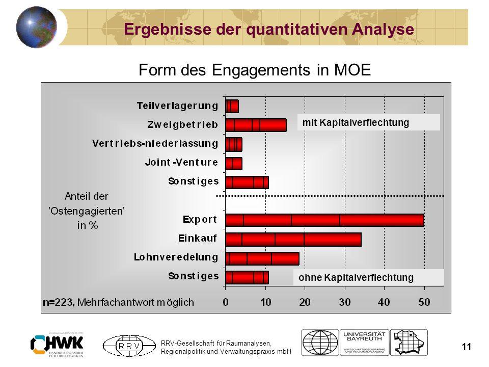 Ergebnisse der quantitativen Analyse