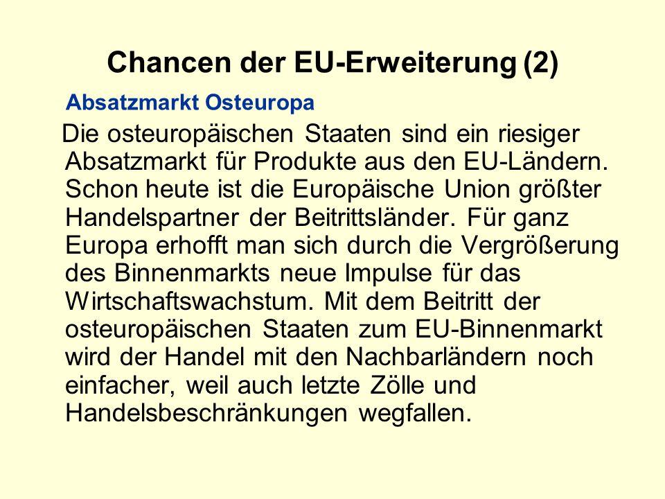 Chancen der EU-Erweiterung (2)
