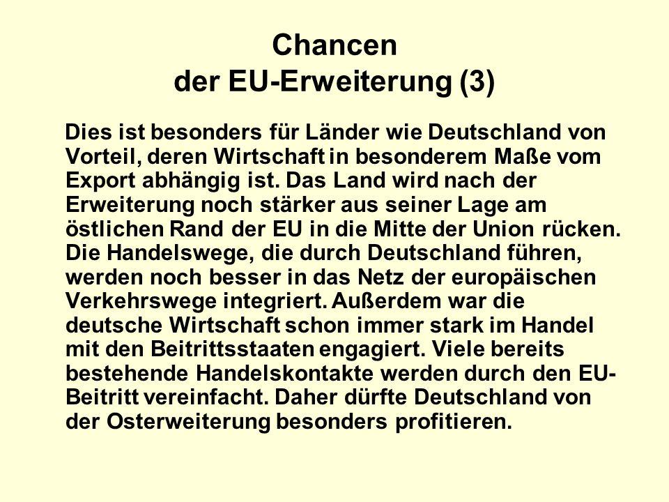 Chancen der EU-Erweiterung (3)