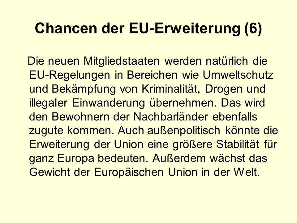 Chancen der EU-Erweiterung (6)