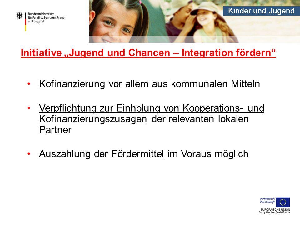 """Initiative """"Jugend und Chancen – Integration fördern"""