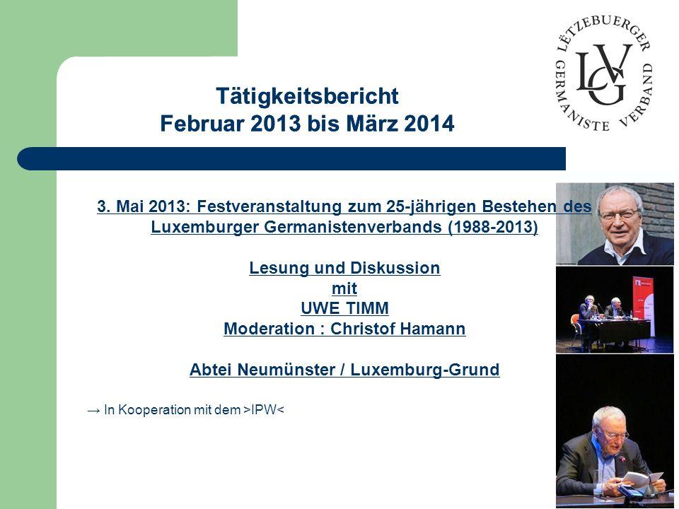 Moderation : Christof Hamann Abtei Neumünster / Luxemburg-Grund