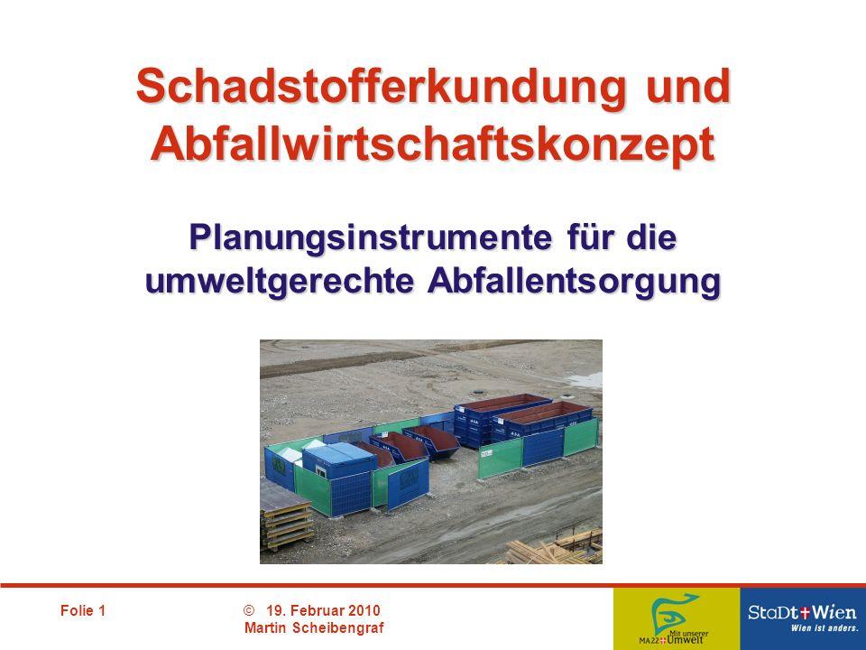 Schadstofferkundung und Abfallwirtschaftskonzept