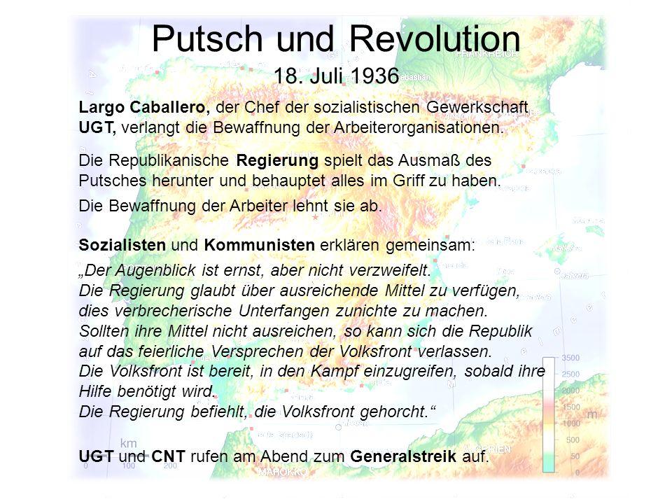 Putsch und Revolution 18. Juli 1936