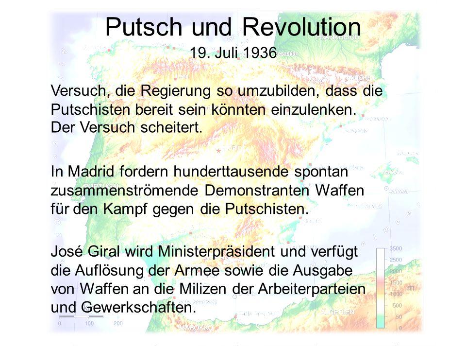 Putsch und Revolution 19. Juli 1936