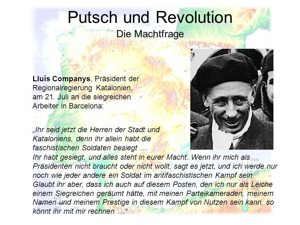 Putsch und Revolution Die Machtfrage