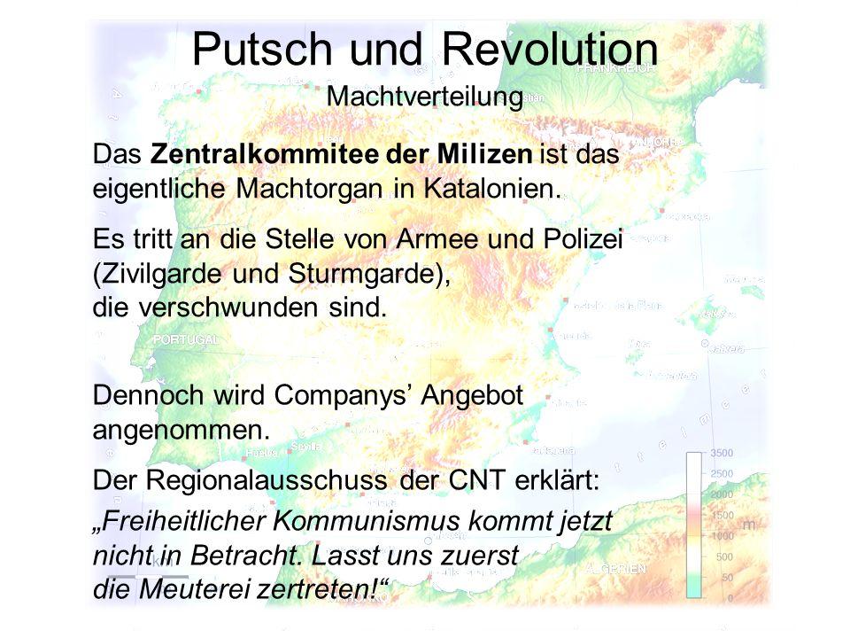 Putsch und Revolution Machtverteilung