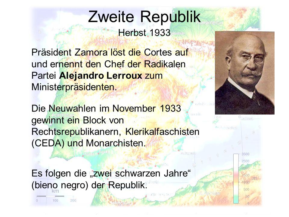 Zweite Republik Herbst 1933