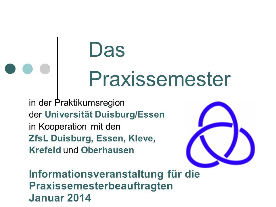 Das Praxissemester in der Praktikumsregion.