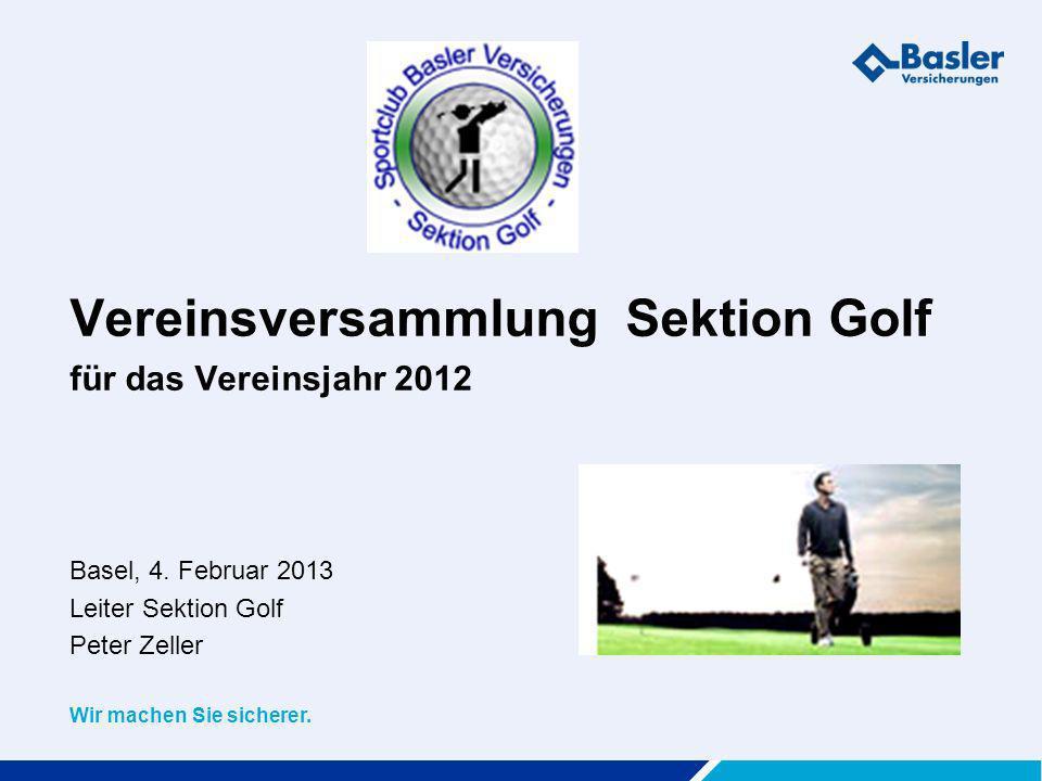 Vereinsversammlung Sektion Golf