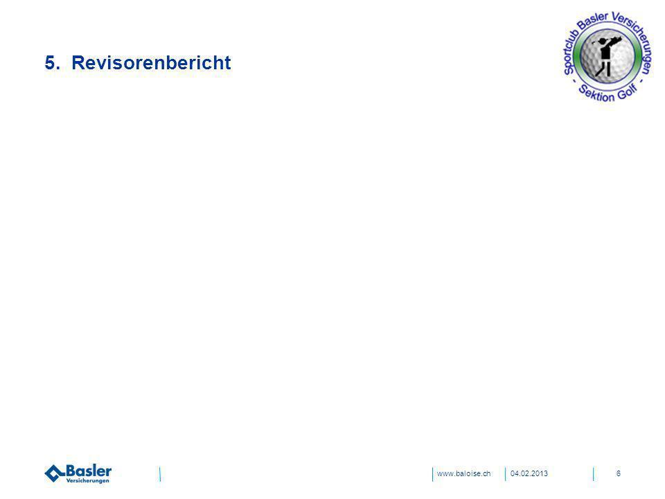 31.03.2017 5. Revisorenbericht Titel und Inhalt 04.02.2013