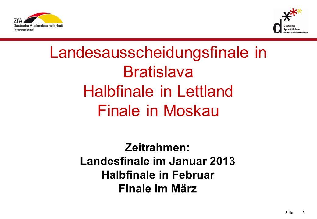 Landesfinale im Januar 2013