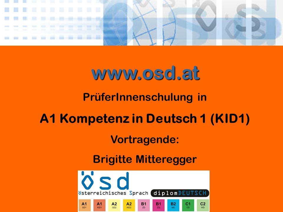 A1 Kompetenz in Deutsch 1 (KID1)