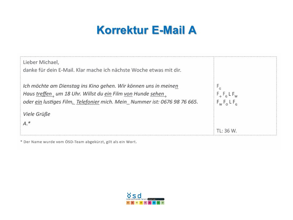 Korrektur E-Mail A