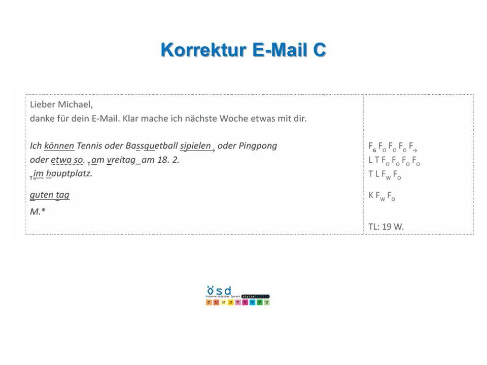 Korrektur E-Mail C