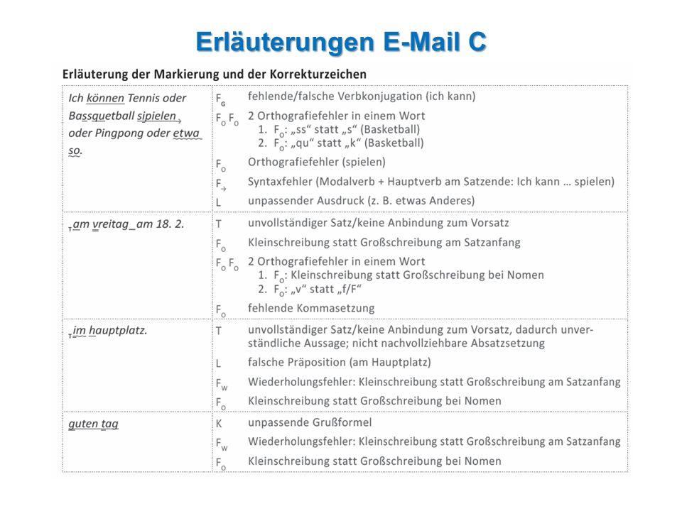 Erläuterungen E-Mail C