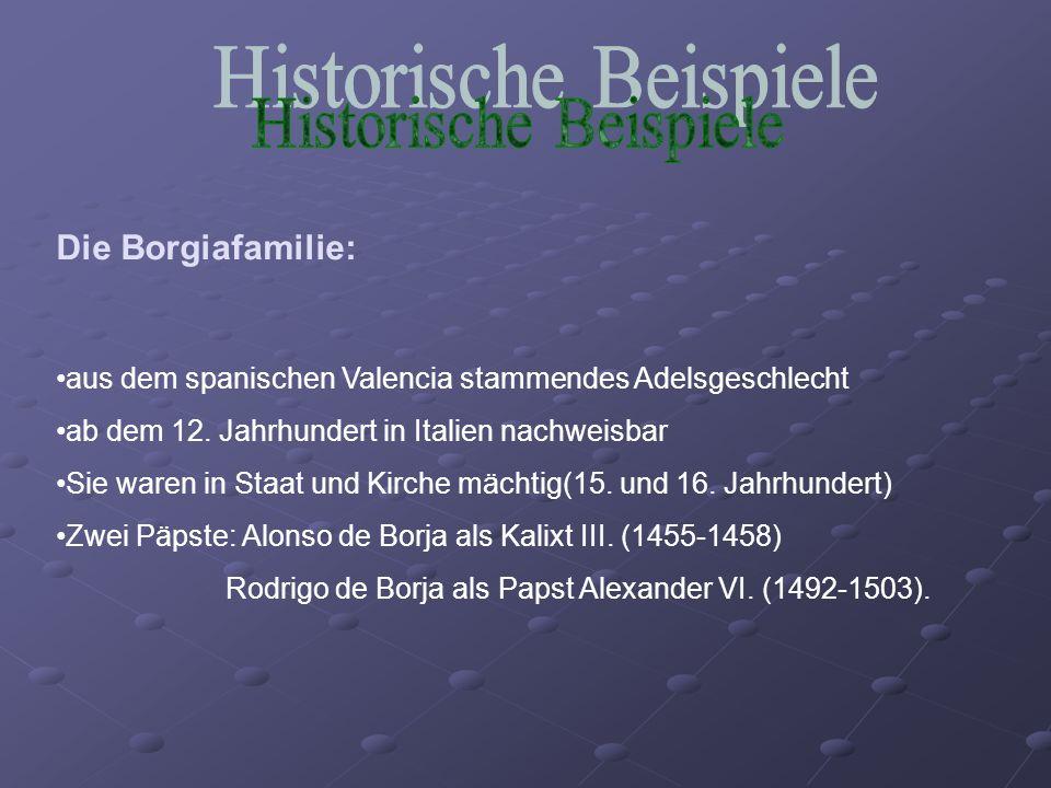 Historische Beispiele