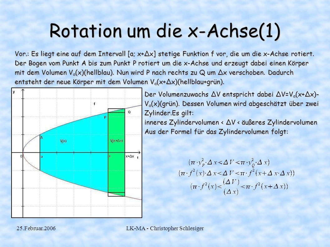 Rotation um die x-Achse(1)