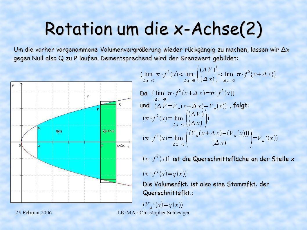 Rotation um die x-Achse(2)