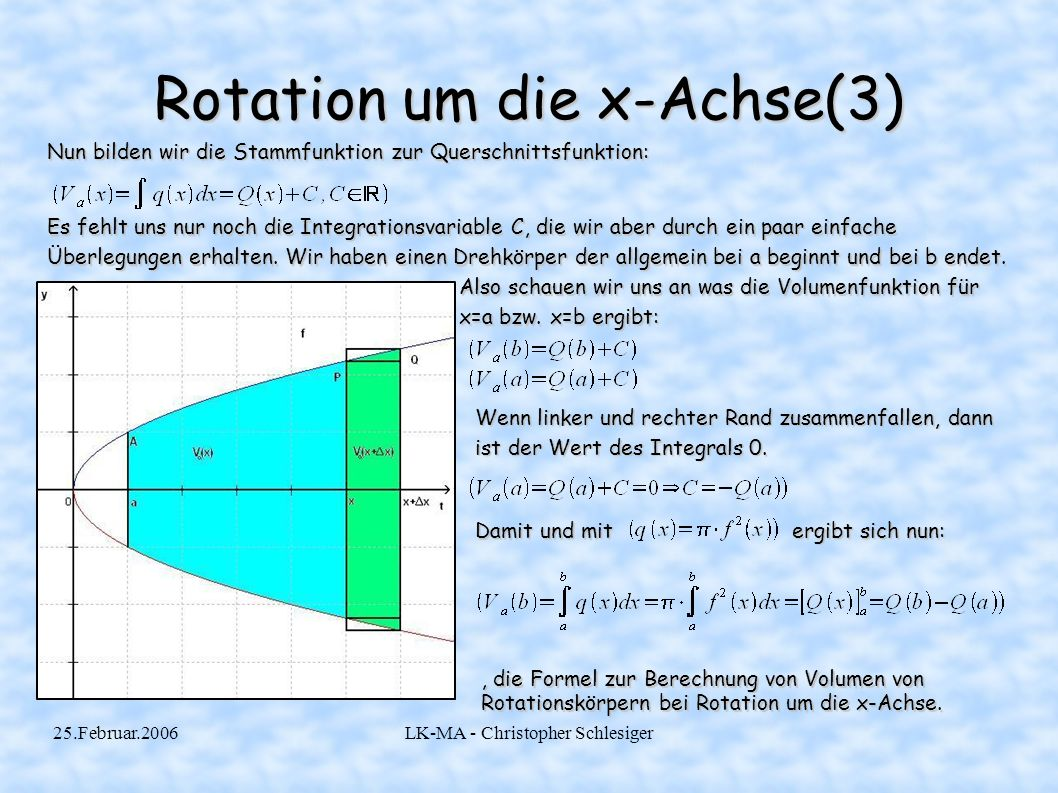 Rotation um die x-Achse(3)