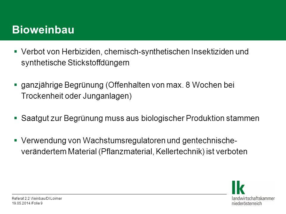 Bioweinbau Verbot von Herbiziden, chemisch-synthetischen Insektiziden und synthetische Stickstoffdüngern.