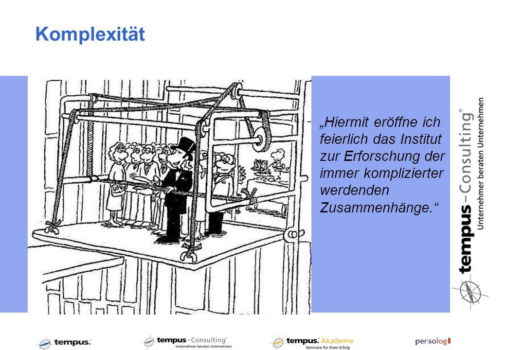 """Komplexität """"Hiermit eröffne ich feierlich das Institut zur Erforschung der immer komplizierter werdenden Zusammenhänge."""