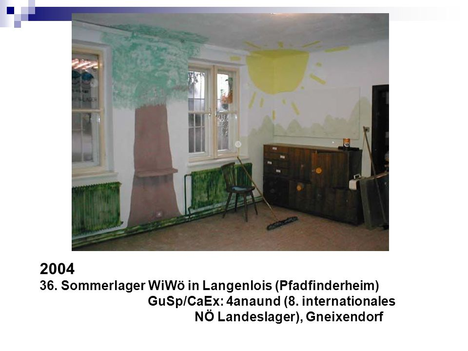 2004 36. Sommerlager WiWö in Langenlois (Pfadfinderheim)