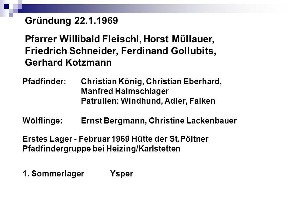 Pfarrer Willibald Fleischl, Horst Müllauer,