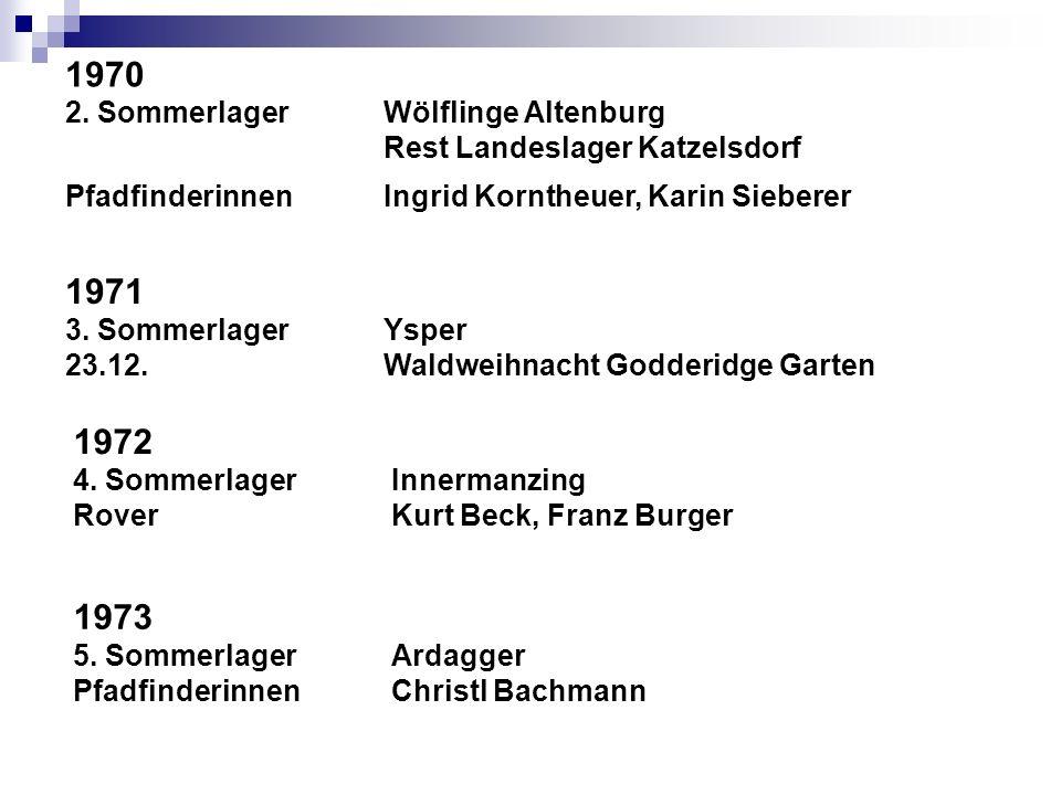 1970 1971 1972 1973 2. Sommerlager Wölflinge Altenburg