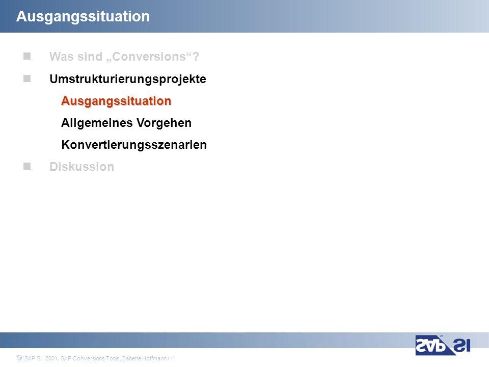 """Ausgangssituation Was sind """"Conversions Umstrukturierungsprojekte"""