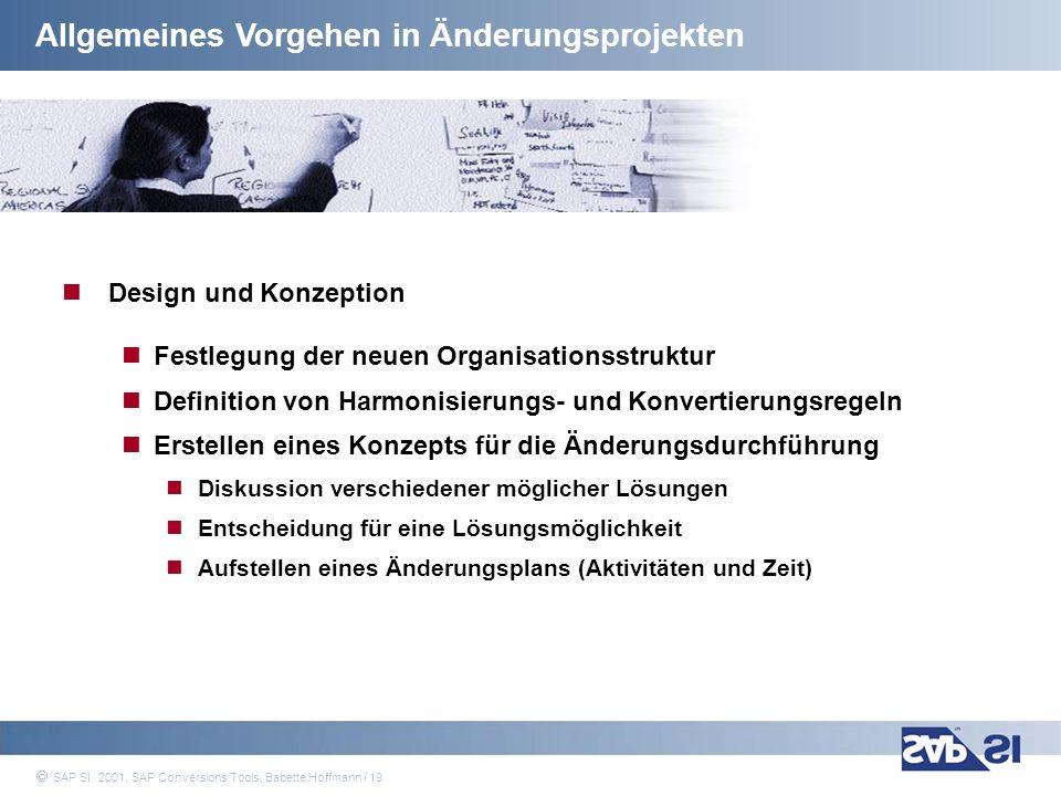 Allgemeines Vorgehen in Änderungsprojekten