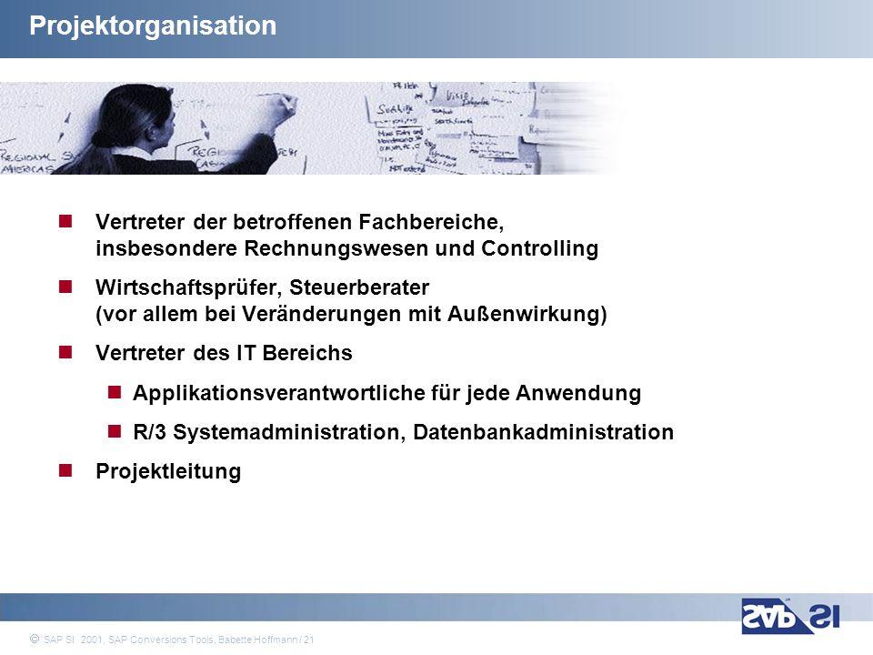 Projektorganisation Vertreter der betroffenen Fachbereiche, insbesondere Rechnungswesen und Controlling.