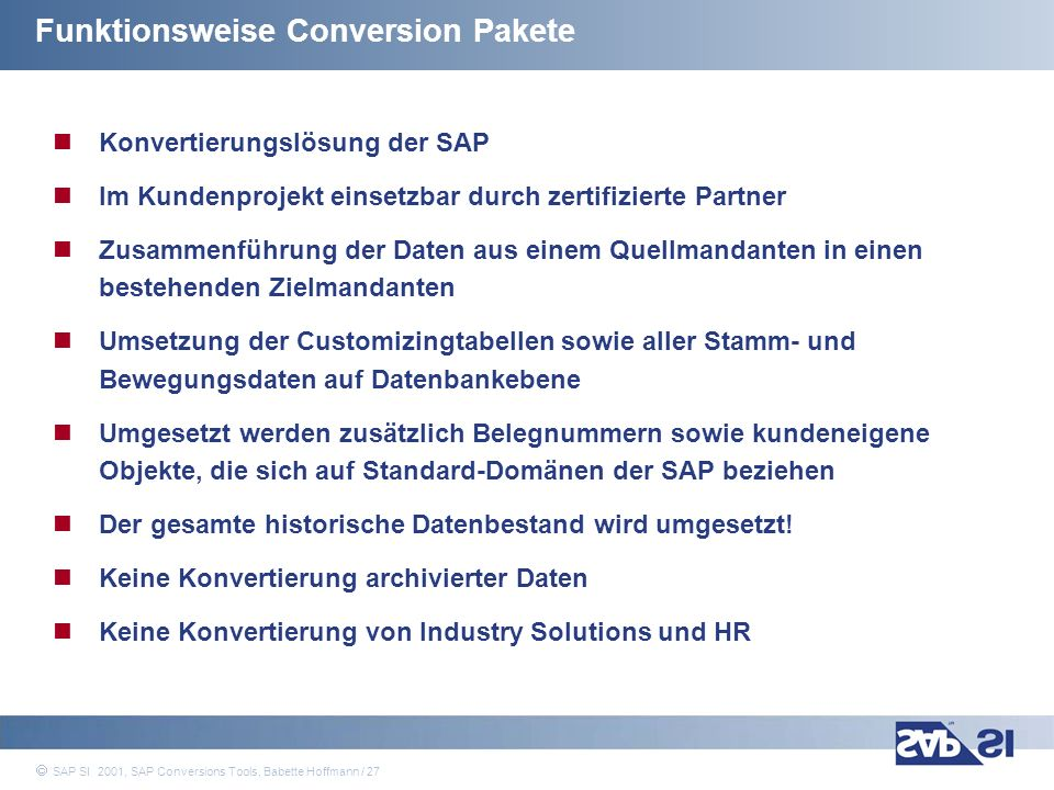 Funktionsweise Conversion Pakete