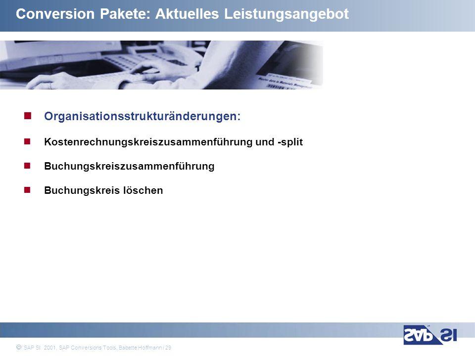 Conversion Pakete: Aktuelles Leistungsangebot