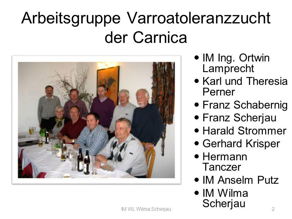 Arbeitsgruppe Varroatoleranzzucht der Carnica