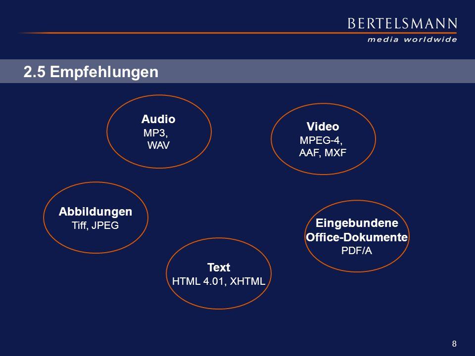 2.5 Empfehlungen Audio Video Abbildungen Eingebundene Office-Dokumente