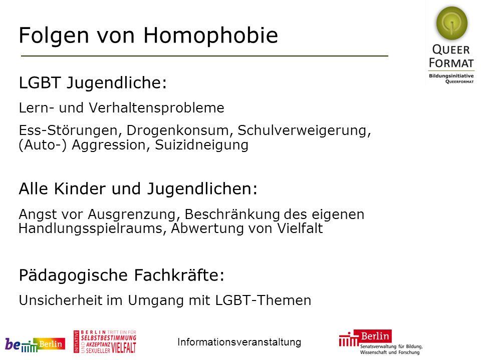 Folgen von Homophobie LGBT Jugendliche: Alle Kinder und Jugendlichen: