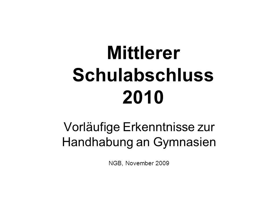 Mittlerer Schulabschluss 2010