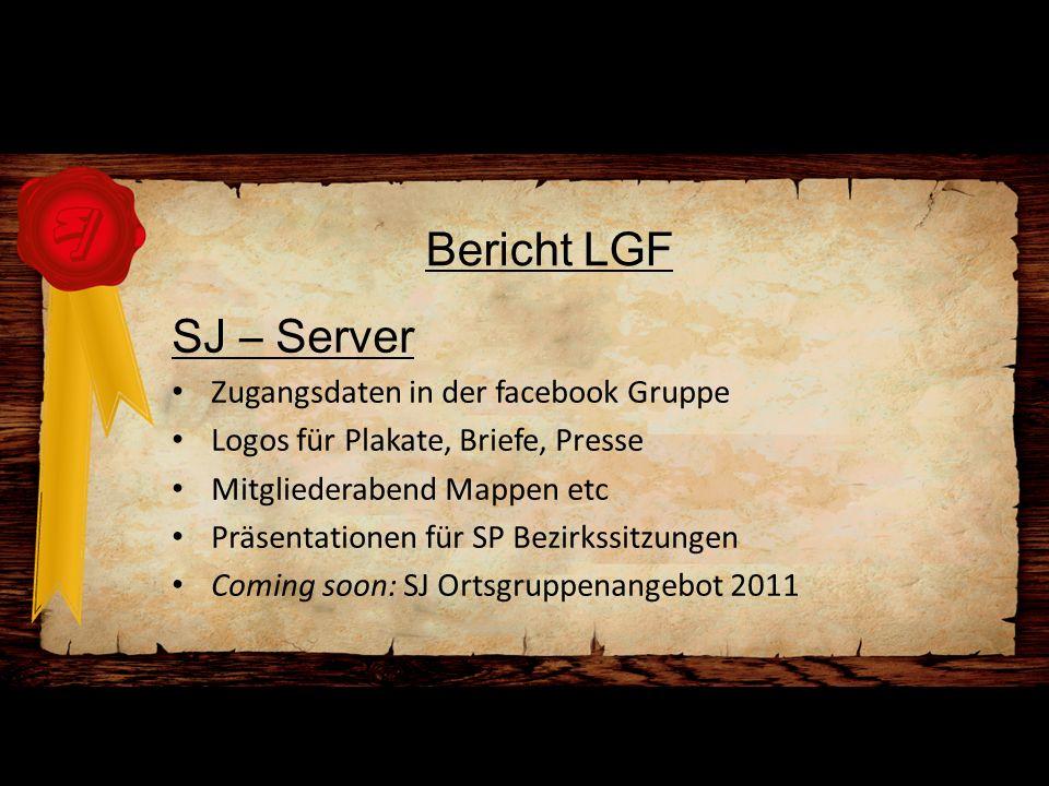 Bericht LGF SJ – Server Zugangsdaten in der facebook Gruppe