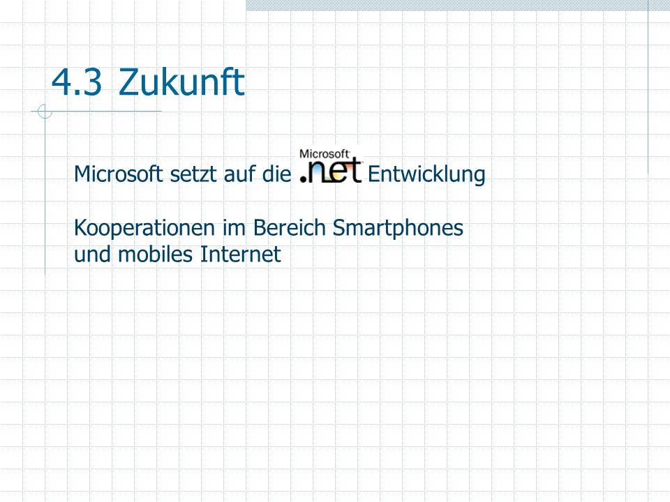 4.3 Zukunft Microsoft setzt auf die Entwicklung