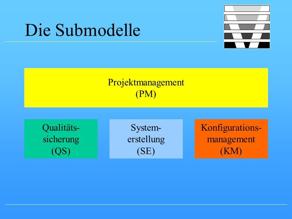 Die Submodelle Projektmanagement (PM) Qualitäts- sicherung (QS)