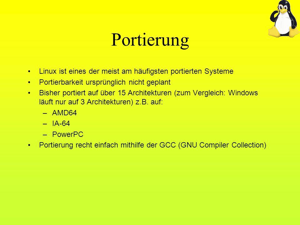 Portierung Linux ist eines der meist am häufigsten portierten Systeme