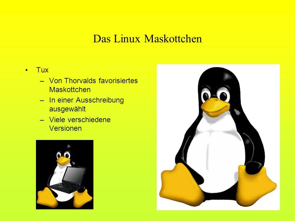 Das Linux Maskottchen Tux Von Thorvalds favorisiertes Maskottchen