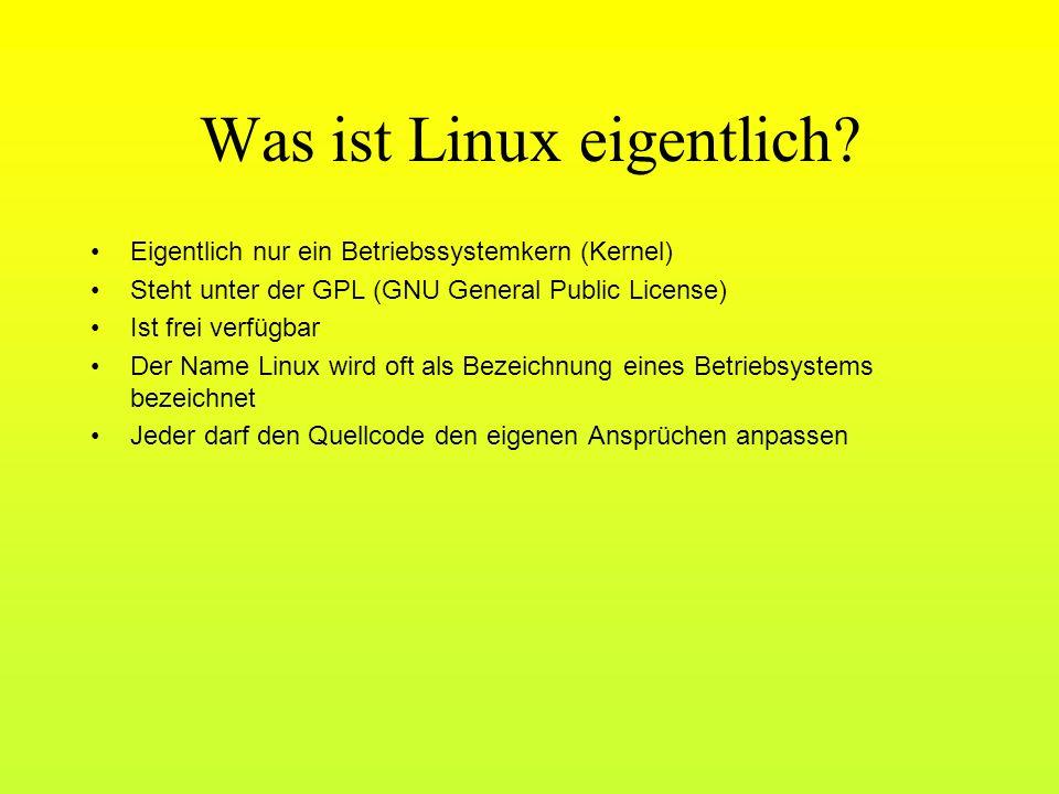 Was ist Linux eigentlich